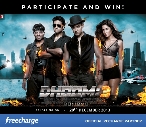 Dhoom 3 freecharge